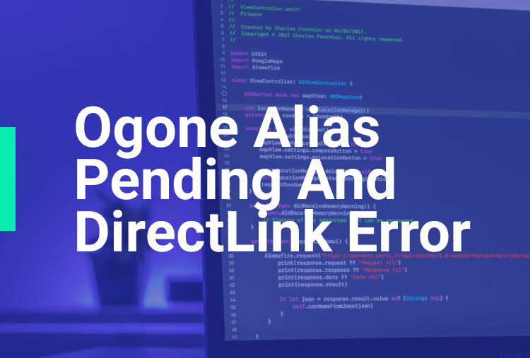 Ogone Alias pending and DirectLink error
